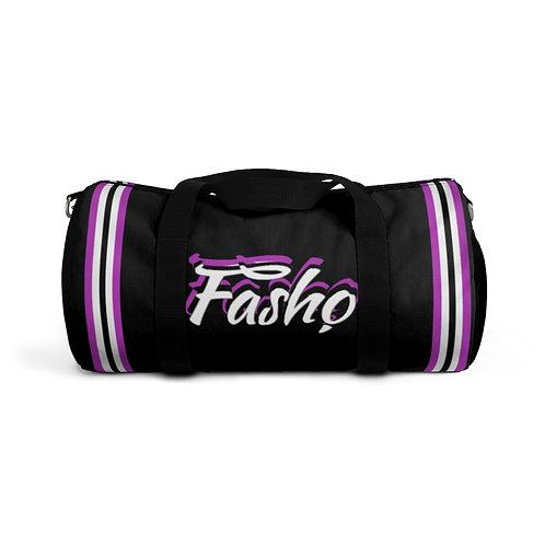 Purple/ Black Fasho Duffel Bag