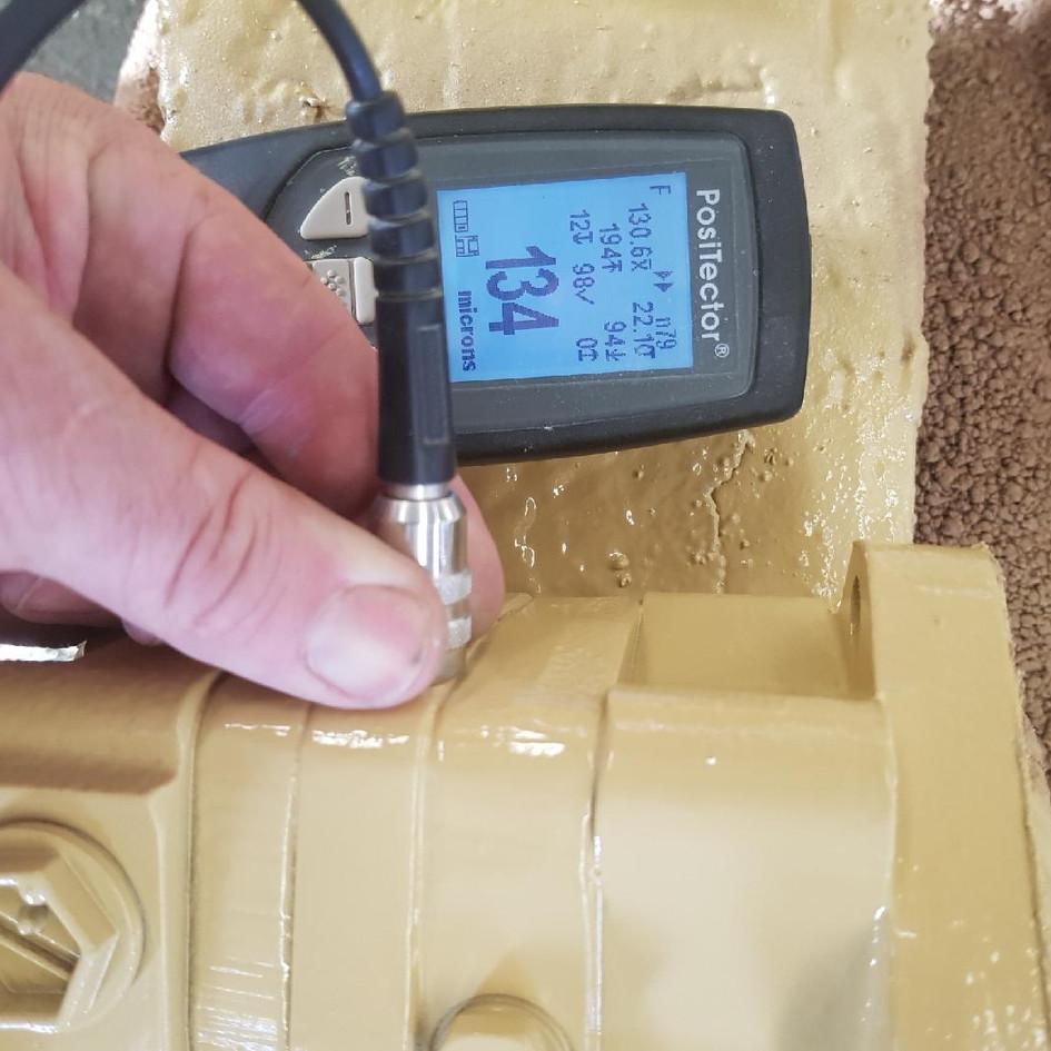 Tank blast inspection
