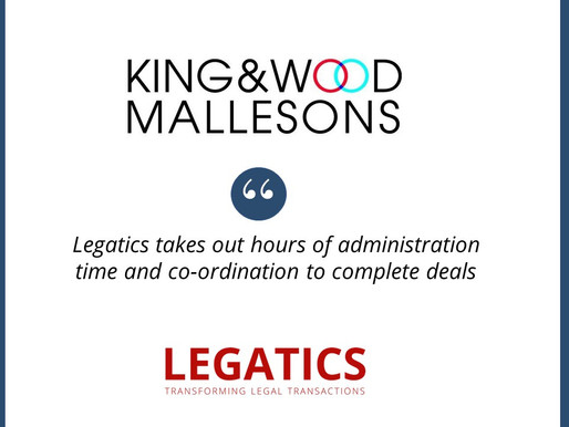 King & Wood Mallesons selects Legatics as transaction management platform