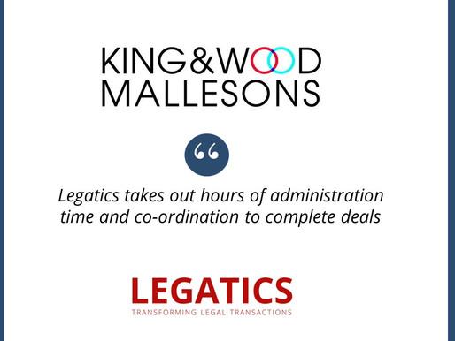 King & Wood Mallesons selects Legatics as transaction management platform