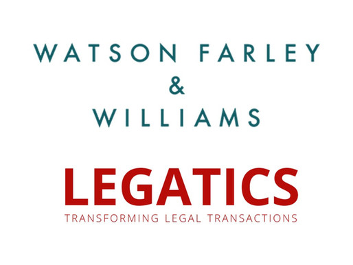 Press release: Watson Farley & Williams chooses Legatics as deal management platform