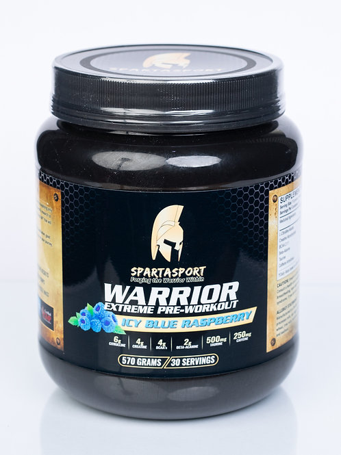 Spartasport Warrior Pre Workout Mix - Ice Blue Raspberry Flavour 570g (1.25 lbs)