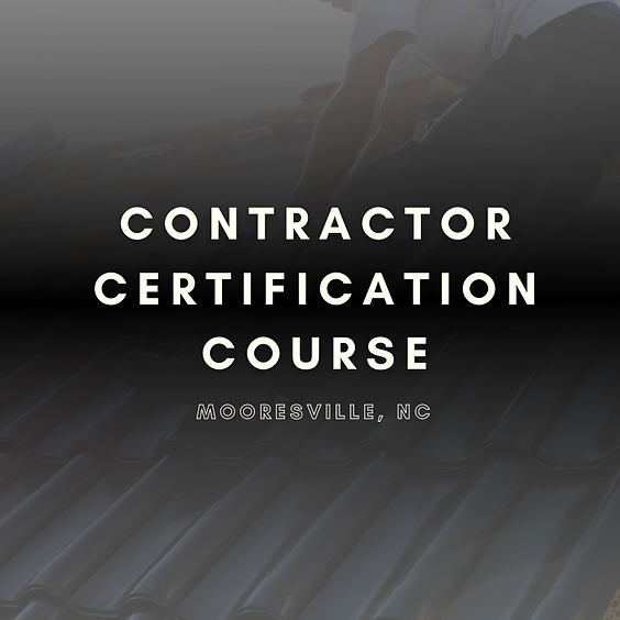 Metal Roof Contractor Certification Course (Morning)