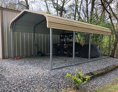 tubing style carport