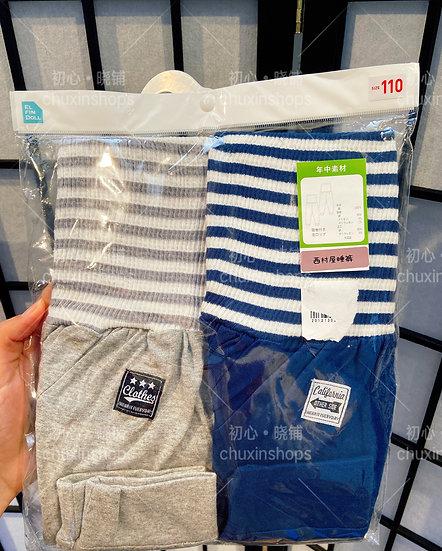 西松屋条纹儿童护肚睡裤
