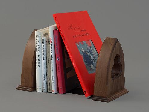 木製ブックエンド(ゴシック)