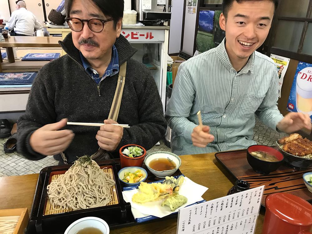 藤尾山荘で食事