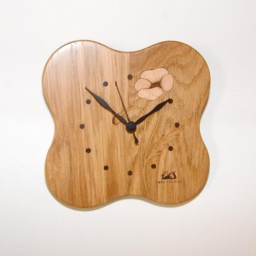 ポピーのお花の時計(電波時計)