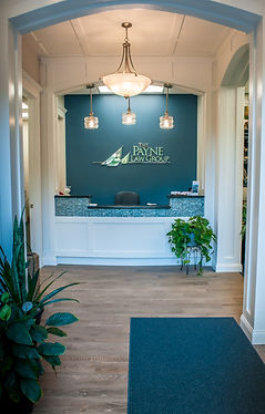 picture of reception desk from the front door