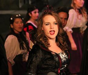 """As the Evil Queen in """"Snow White"""" Show Choir Set"""