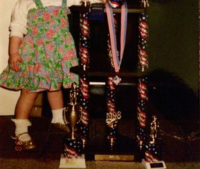 With her first place trophy from the Baby USA 1998 Pageant