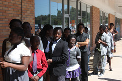 youth lined up to Model for Christ