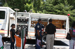 community outreach with fire dept.