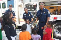 kids getting fire training