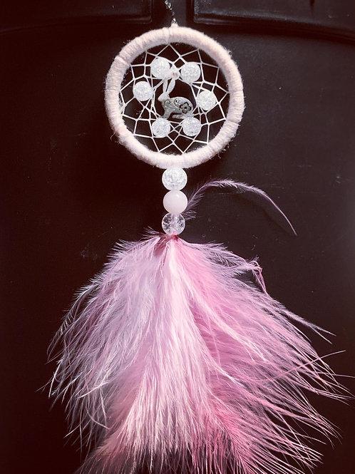 Mini dream lapin cristal de roche et quartz rose