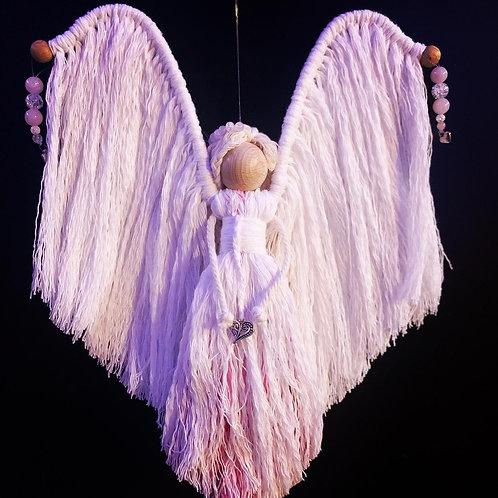 ange et quartz rose