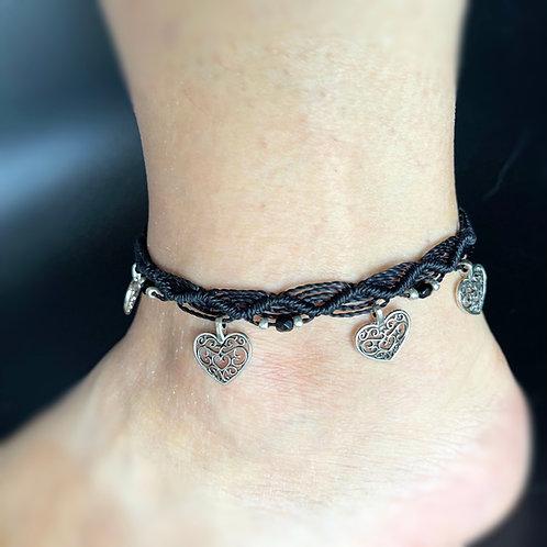 bracelet cheville réglable 1 vague