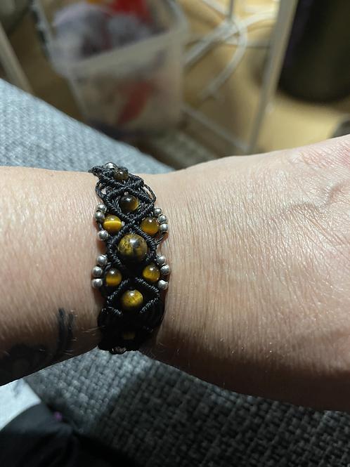 Bracelet réglable oeil de tigre confiance