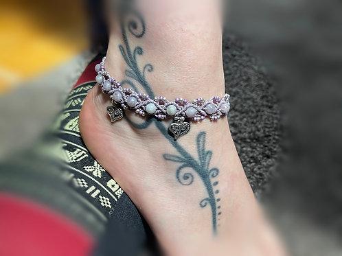bracelet cheville réglable infini