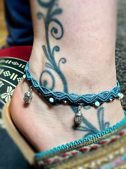 bracelet cheville réglable bouddha