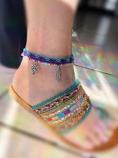bracelet cheville bicolore