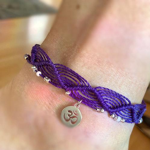 bracelet de cheville réglable Aum