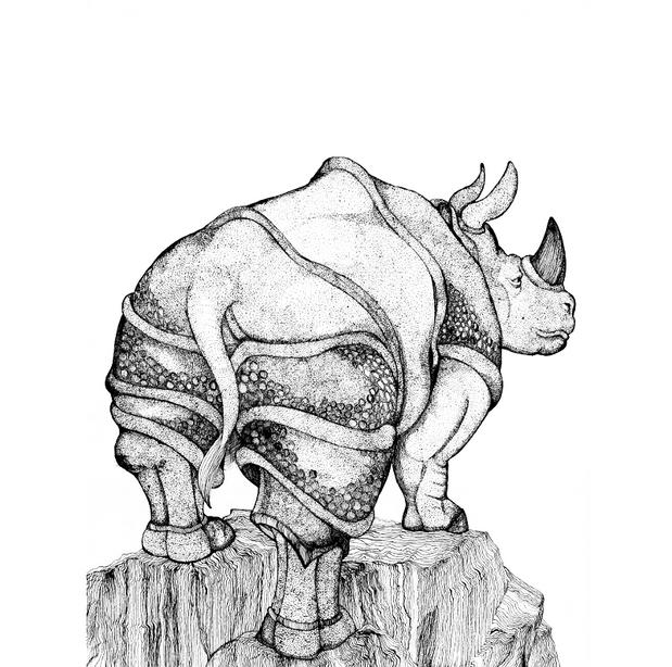 Rhino From The Rear