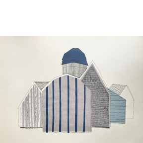 Barns in Blue and Grey