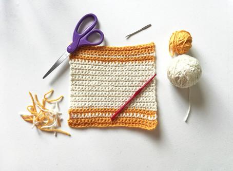 Basic Crocheted Dishcloth