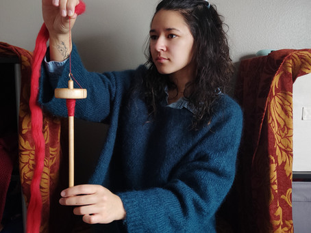 Learn to Spin on a Drop Spindle