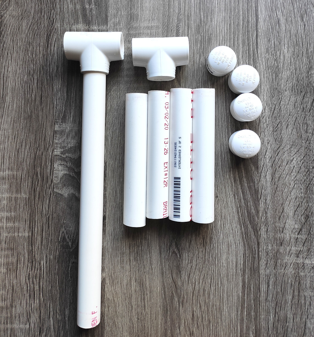 PVC pipe materials for the niddy noddy