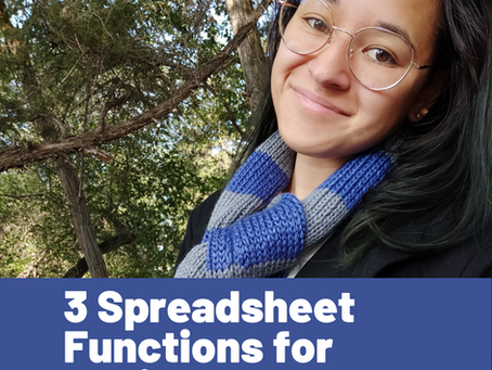 3 Spreadsheet Functions for Designers