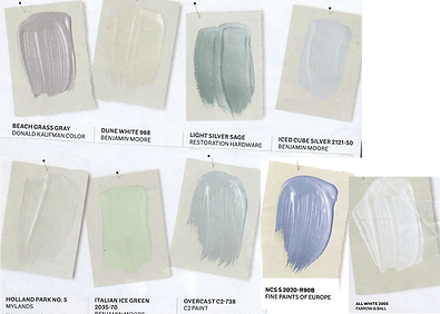 Pale blue and green color swatches