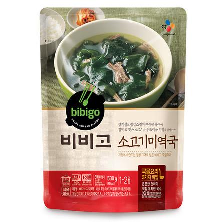 Суп из морской капусты с говядиной «Бибиго»