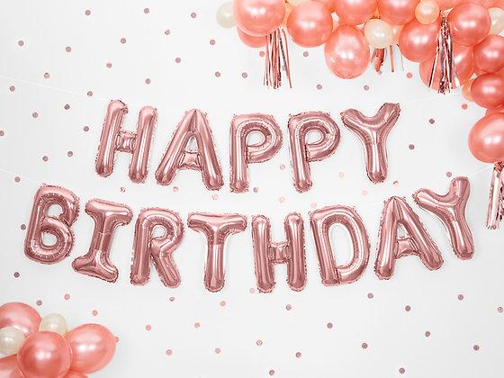 Rose Gold Happy Birthday Foil Balloon