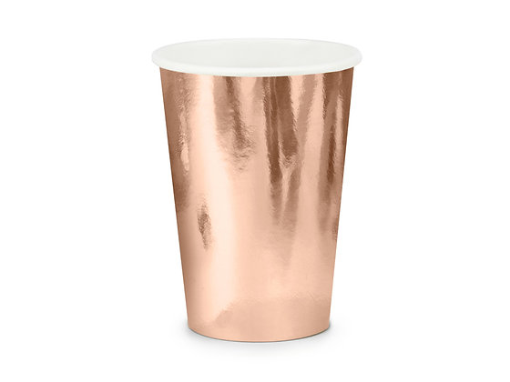 Rose Gold Cups - Pack of 6