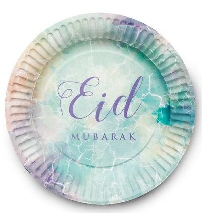 Watercolour Eid Mubarak Plates - Pack of 6