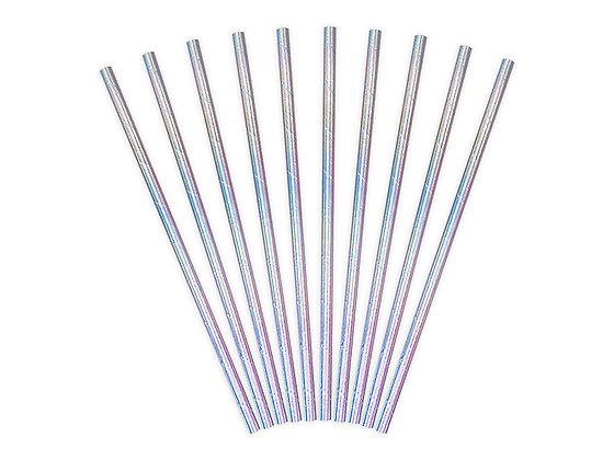 Dark Iridescent Paper Straws - Pack of 10