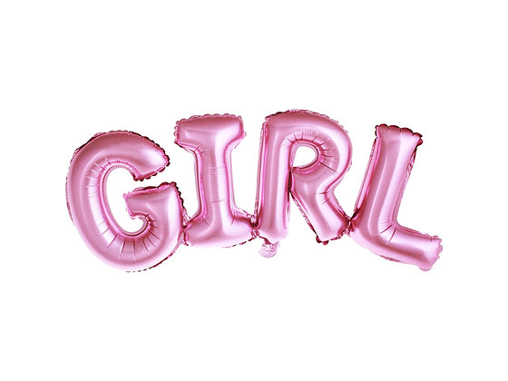 Pink Foil Balloon - Girl