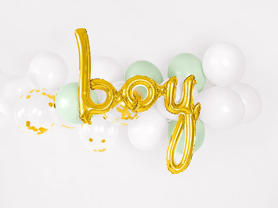 Gold Foil Balloon -Boy