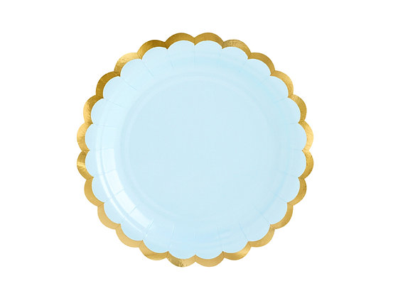 Blue Plates 18cm - Pack of 6