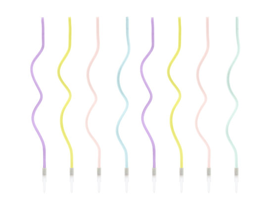 Curly Candles - Pack of 8