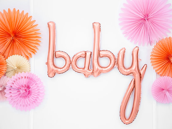 Rose Gold Foil Balloon - Baby