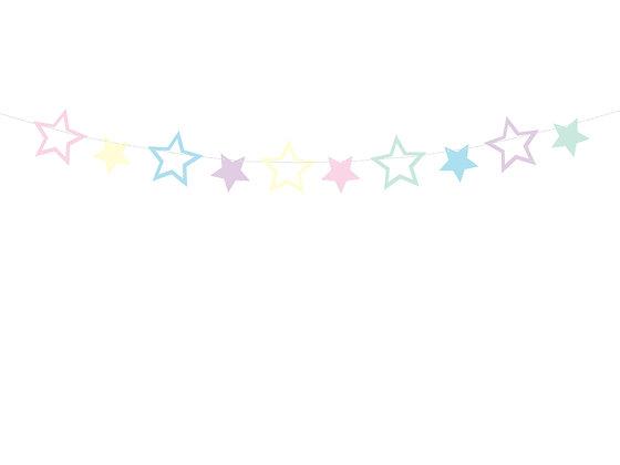 Muticoloured Star Bunting