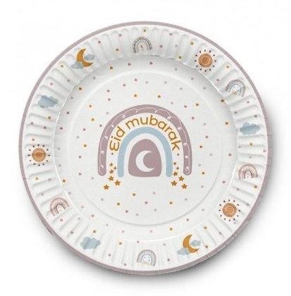 Rainbow Eid Mubarak Plates - Pack of 6