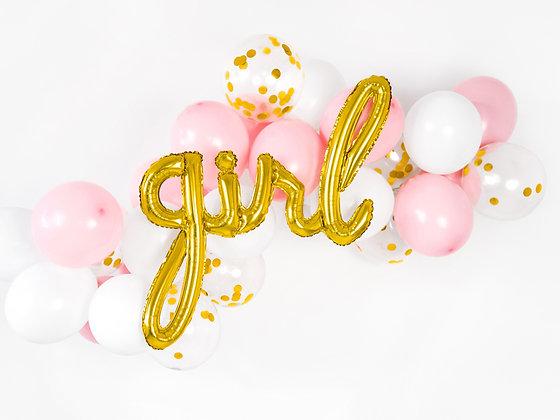 Gold Foil Balloon - Girl