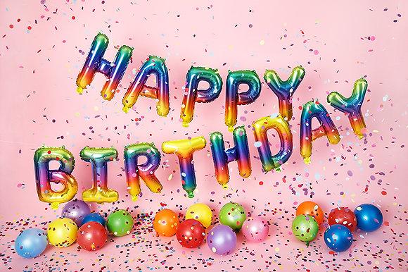 Rainbow Happy Birthday Foil Balloon