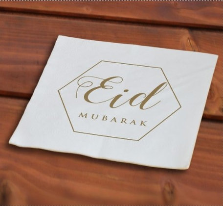 Eid Gold Diamond Paper Napkins 50pcs