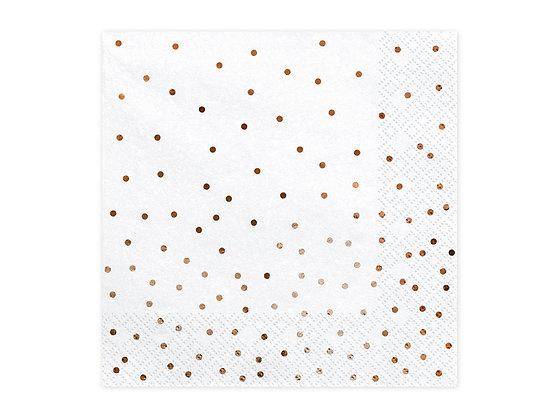 Rose Gold Dot Napkins - Pack of 20