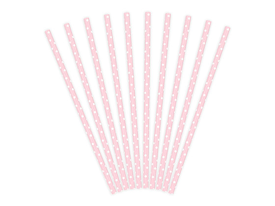 Spotty Paper Straws - Pack of 10